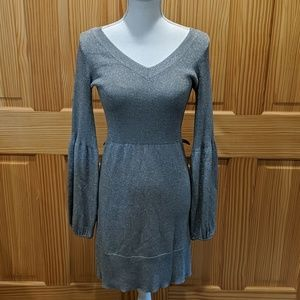 Sparkly Silver Sweater Dress by INC  S